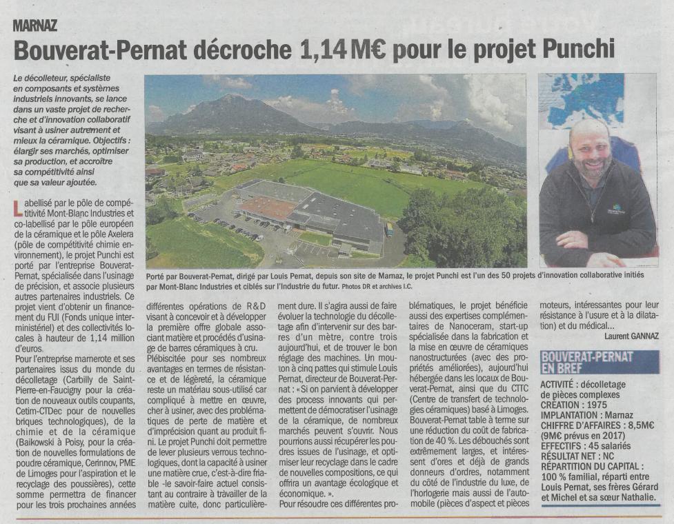 Bouverat-Pernat décroche 1,14 M€ pour le projet Punchi